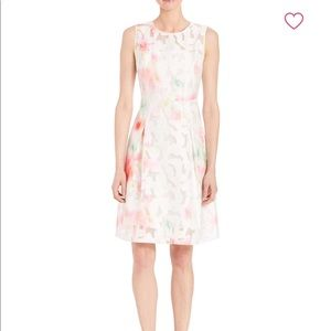 NWT Elie Tahari Floral Lace Abstract Dress